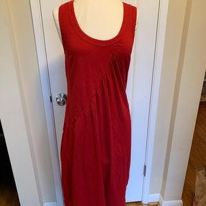 eShakti EEUC Casual Red Midi Dress ❤️ Knit